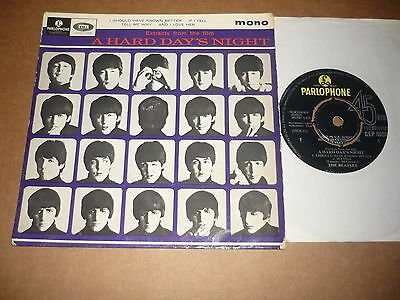 "Beatles ""Extracts from 'A Hard Day's Night'"" Parlophone EP (Blue cover)"