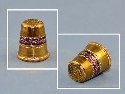 Austrian Yellow Stone Top Thimble.