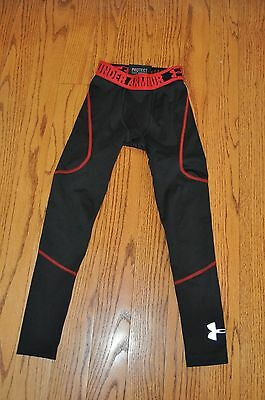 Unisex Kids UNDER ARMOUR Black/Red Athletic Pants