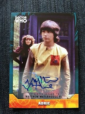 Topps Dr Who Signature Series Matthew Waterhouse As Adric Autograph Card
