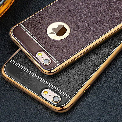 Luxury Ultra-thin PU Leather TPU Soft Phone Case Cover for iPhone 7 7 Plus 6 8 S