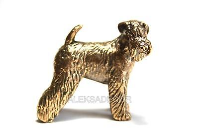 Airedale terrier dog - statuette of bronze, metal figurine