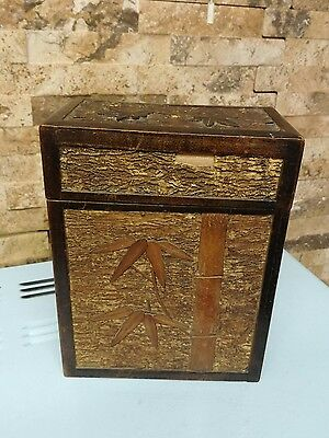 Antique Chinese Bamboo wood box