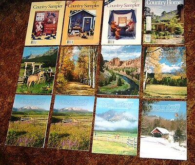 Lot Of Country Magazines - Country Sampler, Country Home, Country