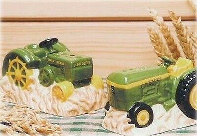 JOHN DEERE GENERATIONS Salt and Pepper Shakers Tractors by Gibson USA 45381