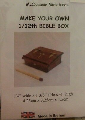 1/12th Scale Bible Box Kit, by McQueenie Miniatures