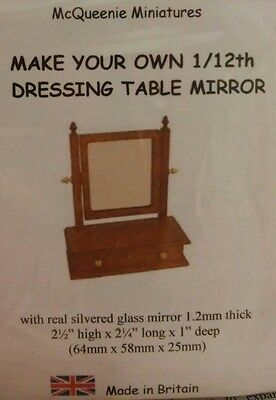 1/12th Scale Dressing Table Mirror & Drawer Kit from McQueenie Miniatures.