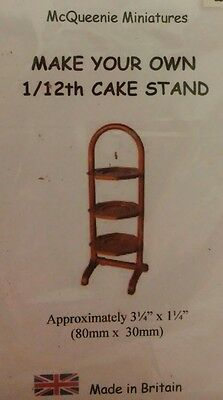 1/12th Scale Cake Stand Kit from McQueenie Miniatures.