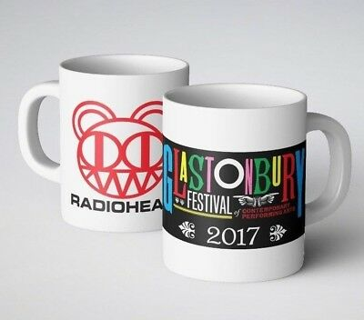 Radiohead at Glastonbury 2017 Printed Mug