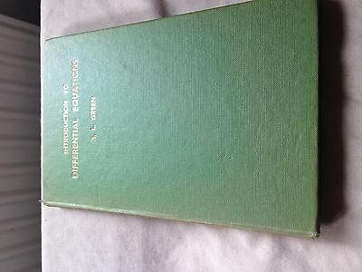 Introduction to Differential Equations by SL Green (Hardback)