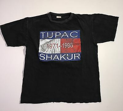 Rare Tupac Shakur Memorial Rap Tee - Tommy - 2 Sided - Size XL - All Eyes On Me