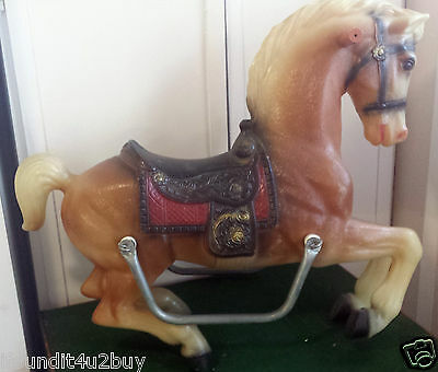 Vintage Plastic Toy Horse (Only) For Your Carousel or Stand