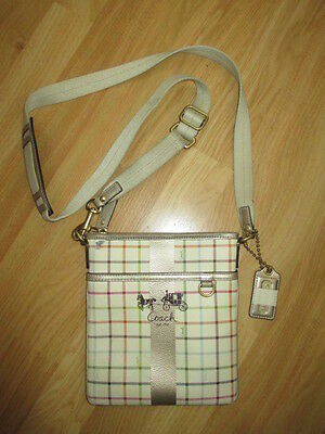 Authentic Coach Leather Small Messenger Cross Body Bag