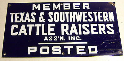 Vintage TEXAS Cattlemen's Ranch Sign