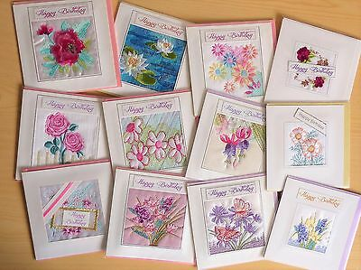 Square Ekard Embroidered assorted occasion cards - job lot of 30 for £20