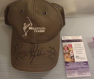 Phil Mickelson/jim Furyk/chris Dimarco Signed>Bellsouth--Jsa Authenticated.