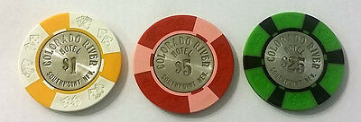 Lot of 3 COLORADO RIVER CASINO (Southpoint/Laughlin) OOP CHIPS $1, $5, $25