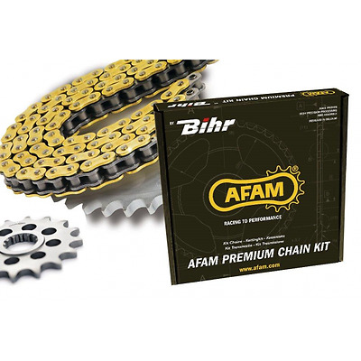 Kit chaine afam 520 type mr1 (couronne ultra-light anti-boue)... - Afam 48011507