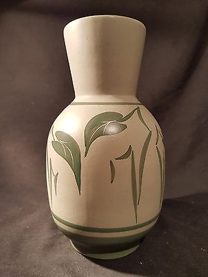 """Cinque Ports Pottery Rye 9.5"""" Tall Hand Painted Vase"""