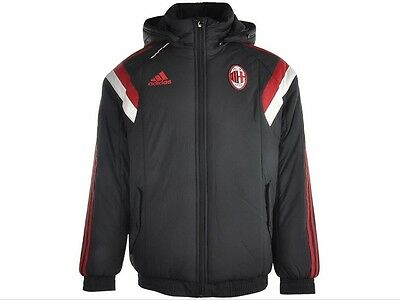 Adidas Mens Official AC Milan Padded Jacket Size S F83754