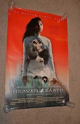 HEAVEN & EARTH - original 1993 US one sheet cinema Poster Tommy Lee Jones