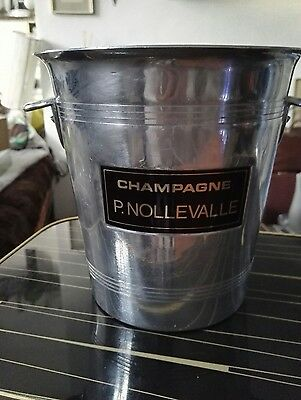 Vintage French Champagne BUCKET wine cooler ice bucket, WEDDING TABLE DECORATION