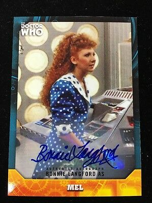 2017 Topps Doctor Who Signature Series Bonnie Langford   Autograph As Mel