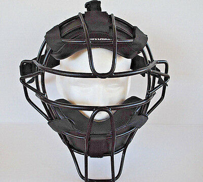 Champro Adult Deluxe Umpire Mask CM63 Black 3-Way Adjustable Comfortable Fit