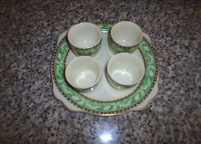 Royal Staffordshire Pottery Egg Cup Plate and 4 Egg Cups A J Wilkinson Ltd