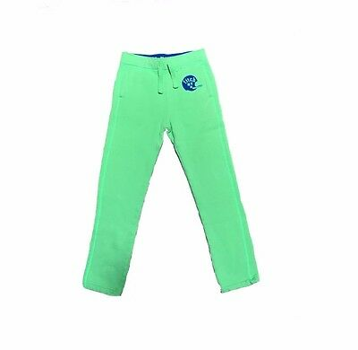 abercrombie kids icon fleece sweatpants lime green size Large