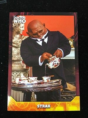 2017 Topps Doctor Who Signature Series Base Red Parallel #55 Strax 4/5