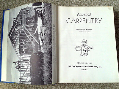 PRACTICAL CARPENTRY Edited by Floyd M.Mix ~ Antique & Collectable