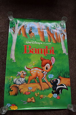 Walt Disney's classic BAMBI original cinema Poster one sheet cartoon