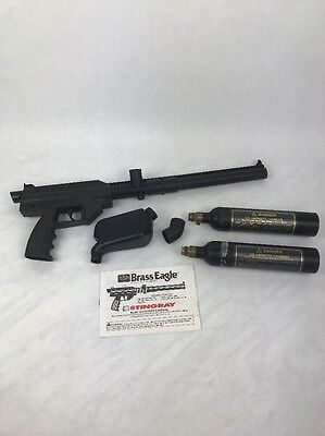 Stingray Paintball Gun by Brass Eagle .68 cal model 1410 with 2 x 7 oz co2 tanks