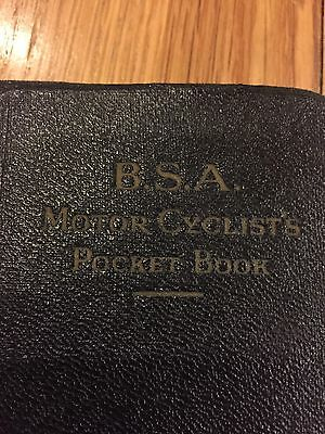 Vintage Bsa Motorcycle  Book In Excellent Condition
