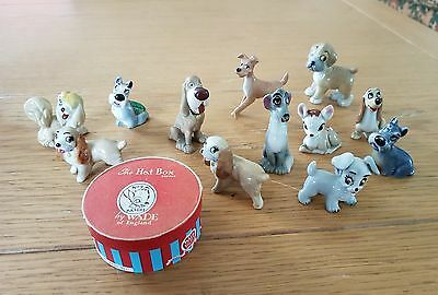 Wade Lady and the Tramp figures incl  Bambi hat box and Benji.