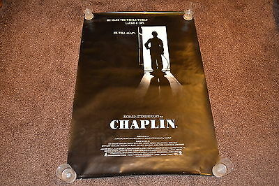 CHAPLIN 1992 US one sheet cinema Poster Robert Downey Jr - Richard Attenborough