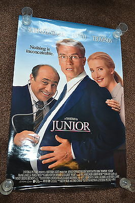 JUNIOR original cinema Poster 1994 one sheet Arnold Schwarzenegger Danny DeVito