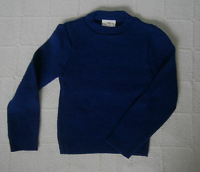 Vintage Crew Neck Jumper - Age 2-4 Years Approx - Navy ribbed Acrylic -  New