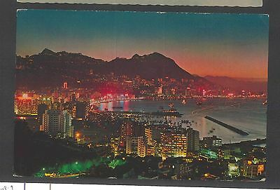Hong Kong To Usa Post Card With Slogan Evening Scene    Z18.31