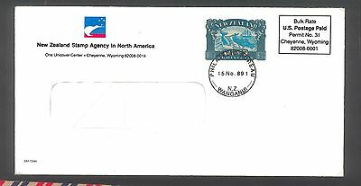 New Zealand Window Cover With Whale Animal Marine Life Stamp   Z20.8