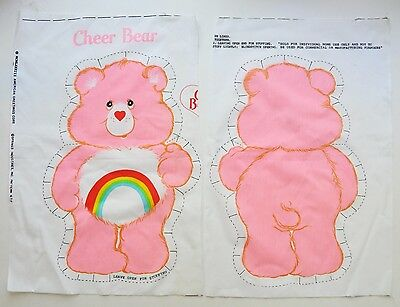 Vintage 1983 CARE BEAR Pillow Pattern CHEER BEAR