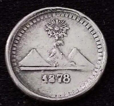 1/4 real 1878 Guatemala, argent .835
