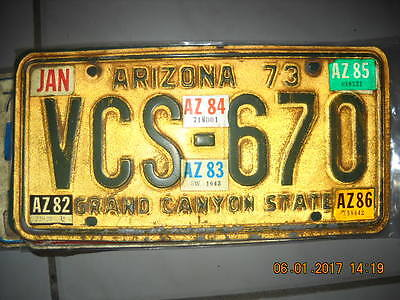Antique Arizona License Plate
