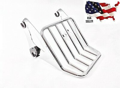Harley Detachable  2 Up Chrome Luggage Rack 54215 Street  Glide Road Glide 09+