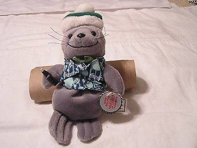 Coca Cola Seal in Vest & Knit Cap Original Cloth &  Paper Tag
