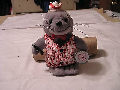 Coca Cola Seal in 2000 Vest Cap Original Cloth &  Paper Tag