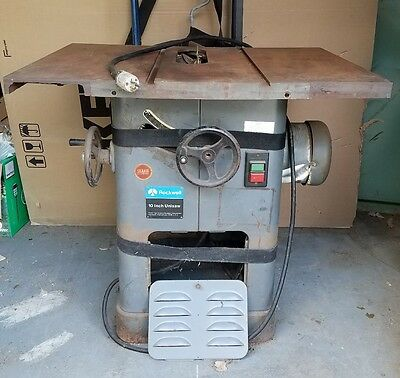 """ROCKWELL DELTA 10"""" UNISAW Model 83-651~ 3 HP Motor Table Saw ~ WORKING!!"""