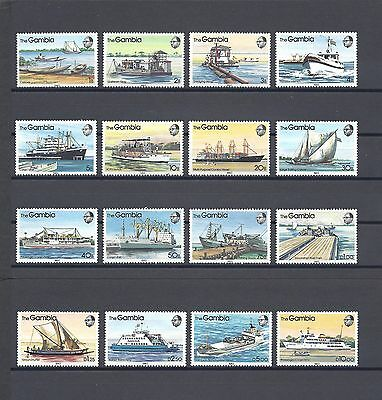 THE GAMBIA 1983 SG494/509 MNH Cat £14