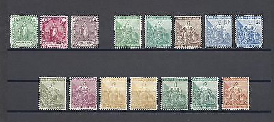 SOUTH AFRICA/CAPE OF GOOD HOPE 1893 SG 58/68 plus Shades Mint Cat £475+